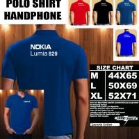 Polo Shirt Gadget/Hp NOKIA LUMIA 820 FONT/Kaos Kerah/Baju Kerah/Tshirt