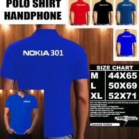 Polo Shirt Gadget/Hp NOKIA 301 FONT/Kaos Kerah/Baju Kerah/Tshirt/Kaos