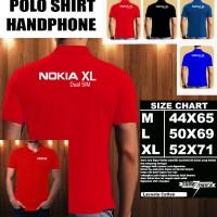 Polo Shirt Gadget/Hp NOKIA XL Dual SIM FONT/Kaos Kerah/Baju Kerah