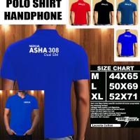 Polo Shirt Gadget/Hp NOKIA ASHA 308 Dual Sim FONT/Kaos Kerah/Baju