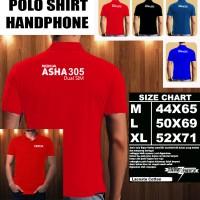 Polo Shirt Gadget/Hp NOKIA ASHA 305 Dual Sim FONT/Kaos Kerah/Baju