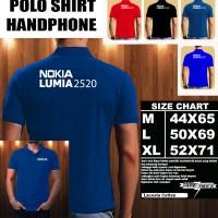 Polo Shirt Gadget/Hp NOKIA LUMIA 2520 FONT/Kaos Kerah/Baju Kerah
