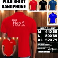Polo Shirt Gadget/Hp OPPO NEO 5 LOGO Font/Kaos Kerah/Baju Kerah/Tshirt