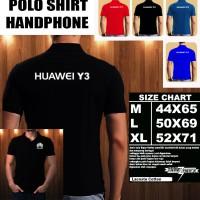 Polo Shirt Gadget/Hp Huawei Y3 Logo Font/Kaos Kerah/Baju Kerah/Tshirt