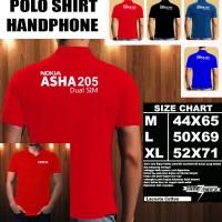 Polo Shirt Gadget/Hp NOKIA ASHA 205 FONT/Kaos Kerah/Baju Kerah/Tshirt