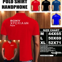 Polo Shirt Gadget/Hp Sony Xperia M4 Aqua Font/Kaos Kerah/Baju Kerah
