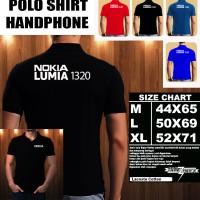 Polo Shirt Gadget/Hp NOKIA LUMIA 1320 FONT/Kaos Kerah/Baju Kerah