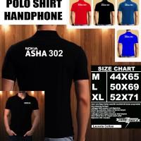 Polo Shirt Gadget/Hp NOKIA ASHA 302 FONT/Kaos Kerah/Baju Kerah/Tshirt