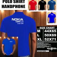 Polo Shirt Gadget/Hp NOKIA LUMIA 530 Dual Sim FONT/Kaos Kerah/Baju