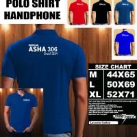 Polo Shirt Gadget/Hp NOKIA ASHA 306 Dual Sim FONT/Kaos Kerah/Baju