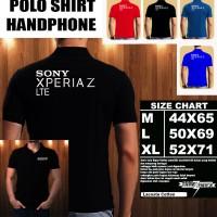 Polo Shirt Gadget/Hp Sony Xperia Z LTE Font/Kaos Kerah/Baju Kerah