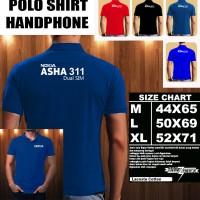 Polo Shirt Gadget/Hp NOKIA ASHA 311 Dual Sim FONT/Kaos Kerah/Baju