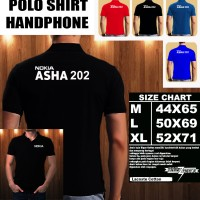 Polo Shirt Gadget/Hp NOKIA ASHA 202 FONT/Kaos Kerah/Baju Kerah/Tshirt