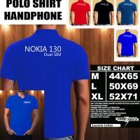 Polo Shirt Gadget/Hp NOKIA 130 Dual SIM FONT/Kaos Kerah/Baju Kerah
