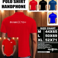 Polo Shirt Gadget/Hp ZTE Grand X Max Plus Logo Font/Kaos Kerah/Baju