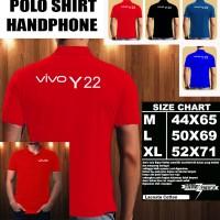 Polo Shirt Gadget/Hp VIVO Y22 Font/Kaos Kerah/Baju Kerah/Tshirt/Kaos