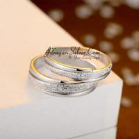 Jual Cincin Couple, Pasangan, Perak, Palladium, Emas, Nikah, Kawin 707 Murah