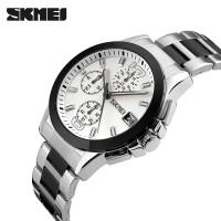 Jual Jam Tangan Pria Original SKMEI 9126 Putih Anti Air / Seiko Rolex Murah