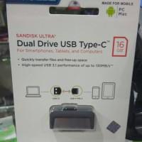 Jual Flashdisk Sandisk OTG 16GB USB Type Tipe C Dual Drive Flash Disk 16 GB Murah