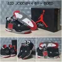 """Sepatu basket Nike Air Jordan IV AJ 4 """"Bred"""" Black Red"""