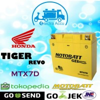 Aki motor honda Tiger Revo motobatt MTX7D Aki Kering