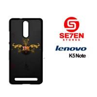 Casing HP Lenovo K5 Note Apple Barcelona FC Logo Custom Hardcase Cover