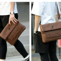 Tas tangan slempang clutch kerja pria wanita selempang handbag kulit