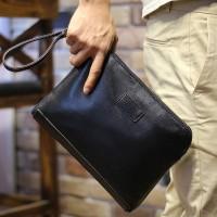 Tas tangan clutch dompet kulit pria wanita hand bag korea hp ipad