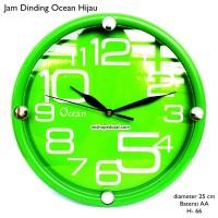jam dinding ocean 25cm hijau