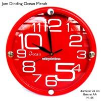 jam dinding ocean 25cm merah