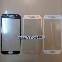 SAMSUNG A520 A5 2017 TEMPERED GLASS FULL LCD WARNA CURVED ANTIGORES