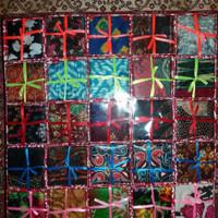 Jual Souvenir Pernikahan Sapu Tangan Batik + box + Pita Murah