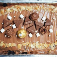 Jual Nutella mousse cake 2020cm (ferrero and toblerone topping) Murah