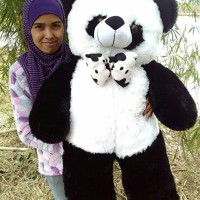 Jual Boneka Panda pita besar Murah