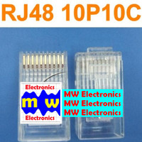 RJ48 10pin Network Connector 10P10C Plug Ethernet high quality