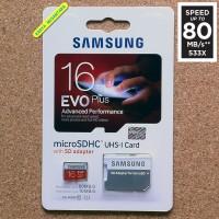 harga 16gb Samsung Microsd Hc Evo Plus 80mb/s + Adapter Memory Card Tokopedia.com