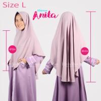 Hijab Alsa Khimar Anita Syar'i Jilbab Instan Kerudung Warna Cream