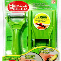 Jual Miracle Peeler 2 in 1- Parutan Multi Fungsi Dual Blade 2in1 Murah