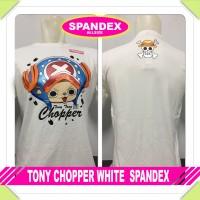 T-SHIRT KAOS TONY CHOPPER WHITE BAHAN SPANDEX