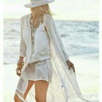 Jual Cardigan Lace Pantai Sunscreen / Cover Bikini / beachware Murah