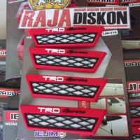 Door Guard Mobil TRD Racing Motif Unik Merah