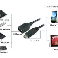 Adapter Micro USB OTG LG Oppo Lenovo Huawei Kabel Cable Meizu Vivo Tab