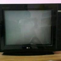 TV tabung slim layar datar LG 21 inch hitam SEKEN