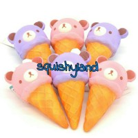 Squishy Ice Cream Jumbo Cone Rilakkuma with tag