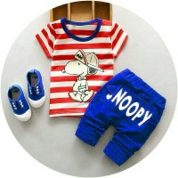 Set Snoopy Benhur Kid Baju anak anak cowok Baju Setelan Anak laki