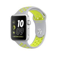 Apple Watch Series 2 Nike + 42mm Silver Wth Flat Silver / Volt Sport Ba