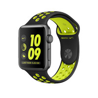 Apple Watch Series 2 Nike + 42mm Space Grey With Black / Volt Sport