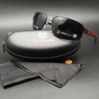 Jual Kacamata Tag Heuer 6507 Polarized Sunglass Pria Hitam Merah Murah