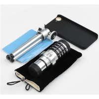 [PROMO] Lesung Telephoto Lens Kit 12X Zoom For IPhone 5/5s / SE - Silver