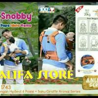 Jual hipseat snobby animal series/hiprest snobby 6in1+saku+sandaran kepala Murah